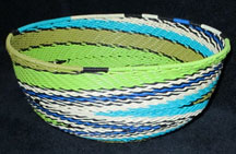 Medium African Zulu Telephone Wire Basket/Bowl - Creative Swirls