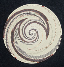 Medium African Zulu Telephone Wire Basket/Plate - Soaring Birds
