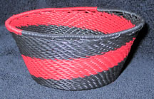 Small African Zulu Telephone Wire Basket/Bowl - Matador