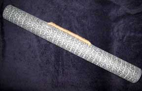 Handmade Thai SAA Paper Art Tube/Carrier - Grey Block Print