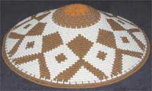 Hardwire African Zulu Deep Telephone Wire Dish/Basket - White/Brown