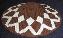 Hardwire African Zulu Deep Telephone Wire Dish/Basket - Brown/White