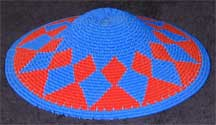 Hardwire African Zulu Deep Telephone Wire Dish/Basket - Blue/Red