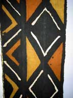 SALE - Handmade African Mud Cloth Hanging (Bogolanfini) with Hanger #4