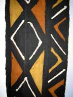 SALE - Handmade African Mud Cloth Hanging (Bogolanfini) with Hanger #5