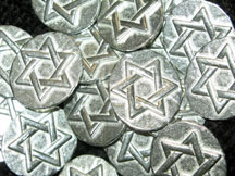 Hanukkah Gelt - 100 Lead-Free Pewter Pocket Tokens/Coins
