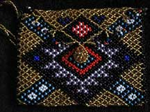 African Zulu Hand Beaded Small Purse (p4)