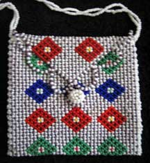 African Zulu Hand Beaded Mini Purse (p6)