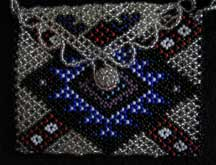 African Zulu Hand Beaded Small Purse (p8)