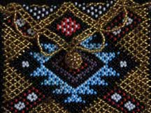 African Zulu Hand Beaded Small Purse (p9)