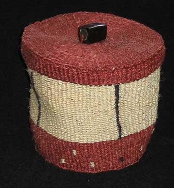 african sisal flexible storage basket with lid. Black Bedroom Furniture Sets. Home Design Ideas