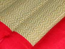 Large Square Thai Meditation Yoga Cushion - Red/Tatami Reed
