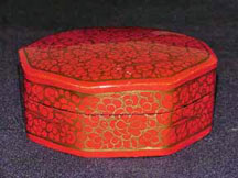 Red 8-Sided Papier  Mache Box
