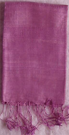 Handmade Thai Raw Silk Bright Purple Shawl