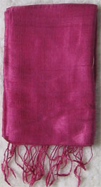 Handmade Thai Raw Silk Purple Rose Shawl