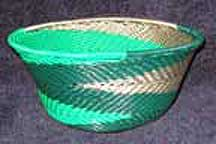 African Zulu Small Telephone Wire Bowl/Basket (605stwb3)