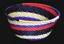 African Zulu Small Telephone Wire Bowl/Basket (SWB-1)