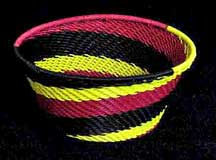 African Zulu Small Telephone Wire  Bowl/Basket (SWB-3)