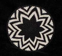 Small African Zulu Telephone Wire Plate Basket (803stwp1)