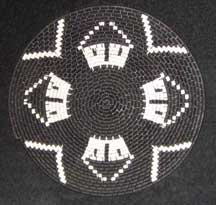 Flat Small African Zulu Telephone Wire Plate/Basket (904stwc6)