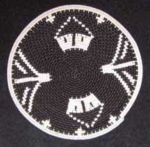 Flat Small African Zulu Telephone Wire Plate/Basket (904stwc7)