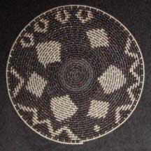 Flat Small African Zulu Telephone Wire Plate/Basket (904stwc8)
