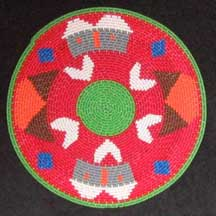 Flat Small African Zulu Telephone Wire Plate/Basket (904stwc9)