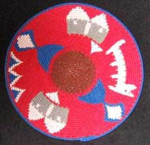 Small African Zulu Telephone Wire Plate/Basket (904stwp10)