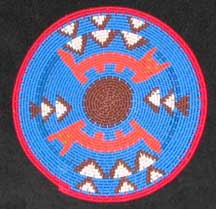 Small African Zulu Telephone Wire Plate/Basket (904stwp18)