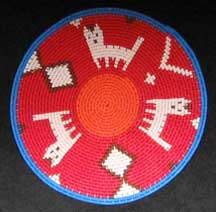 Small African Zulu Telephone Wire Plate/Basket (904stwp21)