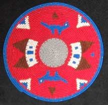 Small African Zulu Telephone Wire Plate/Basket (904stwp9)