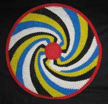 African Zulu Telephone Wire Plate/Basket (104twp2)