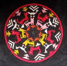 African Zulu Telephone Wire Plate Basket - Animal Parade