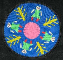 Small African Zulu Telephone Wire Basket/Plate - Dancing Women