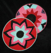 Coordinating Set of Small Zulu Telephone Wire Plates/Baskets