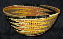 Large African Zulu Telephone Wire Basket/Bowl - Earth Tones #3