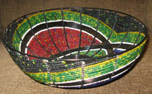 Handmade Modern South African Bead and Wire Bowl - African Spirit