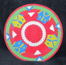 Small African Zulu Telephone Wire Basket/Plate - Creative Village