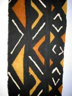 SALE - Handmade African Mud Cloth Hanging (Bogolanfini) with Hanger #2