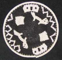 Small African Zulu Telephone Wire Plate/Basket (904stwp25)
