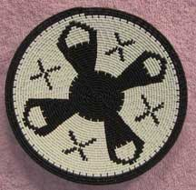 Small African Zulu Telephone Wire Plate/Basket (904stwp34)